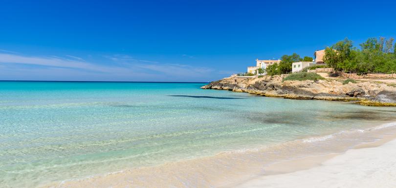 Campos - Finca oder Ferienwohnung mieten, auf Mallorca, Balearen, Spanien - Es Trenc Strand